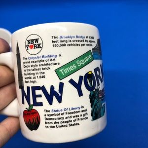 Set of TWO NYC VINTAGE Coffee Mugs 1990 City Merch